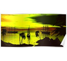 Anchorage on a Heartbreak Cove Sunset Poster