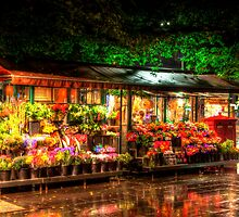 Flower Stall, Melbourne City by Sin Fui Ng