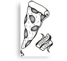 Pizza, forever love. Canvas Print