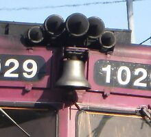 Close up of 1029 MBTA Commuter Rail's Bell and Horn by Eric Sanford