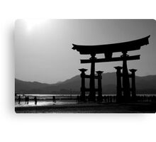 Miyajima Island Torii Gate Canvas Print