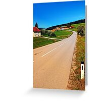 A long road to the border Greeting Card