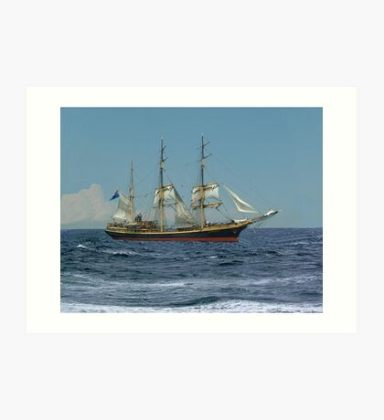Under Short Sail Art Print