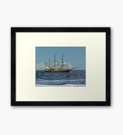Under Short Sail Framed Print