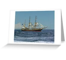 Under Short Sail Greeting Card