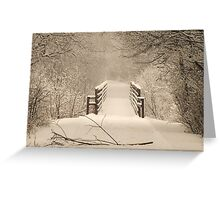 Alone In The Woods Greeting Card