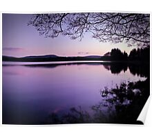 Lavender Light Over Lake Mentieth Poster