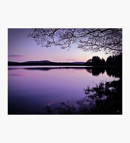 Lavender Light Over Lake Mentieth Photographic Print