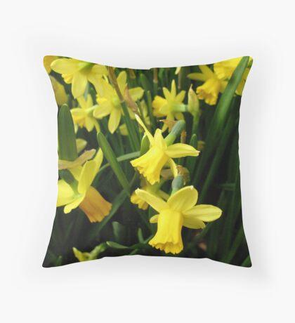 The Yellow Daffodil Choir Throw Pillow