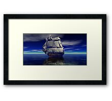 HMS Victory Trafalgar Bound Framed Print