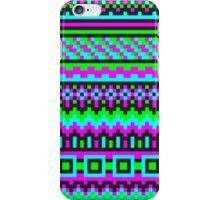 hyper neon pixel pattern iPhone Case/Skin