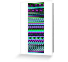 hyper neon pixel pattern Greeting Card
