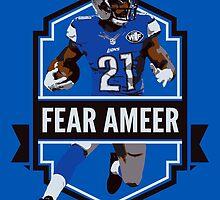 Fear Ameer - Ameer Abdullah - Detroit Lions by twyland