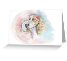 rock-star dog Greeting Card