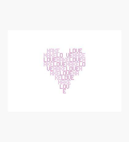 Daft Punk - Love Heart Photographic Print