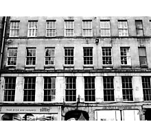 Windows, Edinburgh Photographic Print