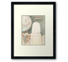 First Girl on the Moon Framed Print