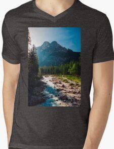River Mens V-Neck T-Shirt