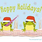Hoppy Holidays - Frog Greeting Card by Nikki Smith