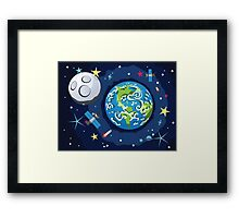 Earth Planet Framed Print