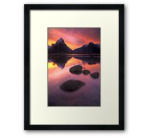 Milford Sound sunset Framed Print