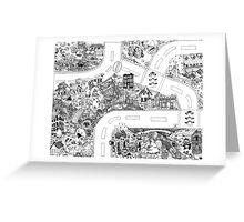 Doodle Map D Greeting Card