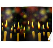 Yellow Candles Poster