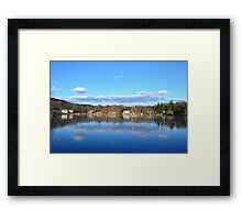 Thin ice reflections. Framed Print