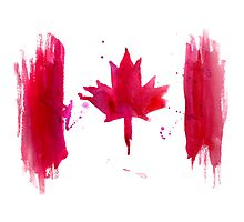 Watercolor flag of Canada Photographic Print