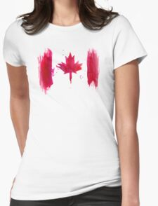 Watercolor flag of Canada Womens Fitted T-Shirt