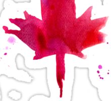 Watercolor flag of Canada Sticker