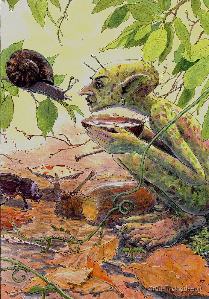 chat with a snail by frey  micklethwait