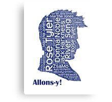 Allons-y, 10th Doctor, Doctor Who Metal Print