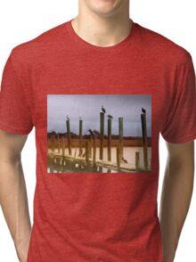 Waiting on the Shrimp Boat Tri-blend T-Shirt