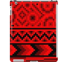 dark red pattern pixel iPad Case/Skin