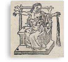 Hic Codex Auienii Continent Epigrama Astronomy Rufius Festivus Avenius 1488 Astronomy Illustrations 0151 Constellations Canvas Print