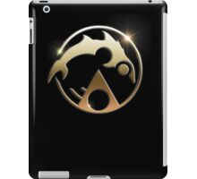 Laser Dolphin Gold Glow iPad Case/Skin