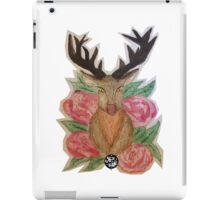 Stag Head & Roses iPad Case/Skin