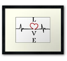 LOVE heart Framed Print