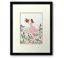 My pet the ladybug Framed Print