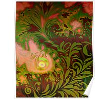 Haitian Autumn Sunset sultry tropical Fall dreamscape Poster