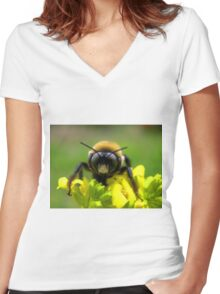 Bee Mine Women's Fitted V-Neck T-Shirt