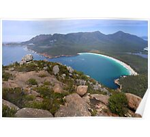 Wineglass Bay and The Hazards Poster