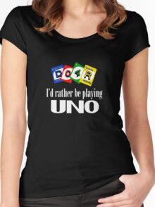 Uno Women's Fitted Scoop T-Shirt
