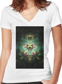 charged Women's Fitted V-Neck T-Shirt