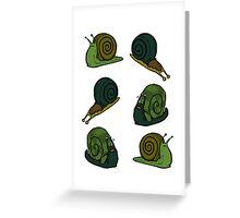 Sad Snails Greeting Card