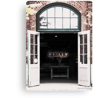 Shop front at the Distillery District Canvas Print