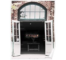 Shop front at the Distillery District Poster
