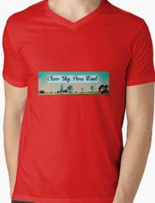 Clear Sky, Pure Mind Mens V-Neck T-Shirt