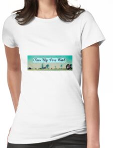Clear Sky, Pure Mind Womens Fitted T-Shirt